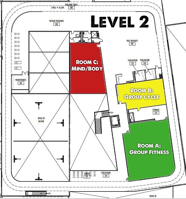 PLWC 2nd Floor Map